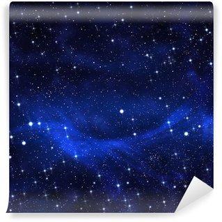 Fototapet av Vinyl Starry på natthimlen bakgrund, abstrakt