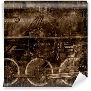Fototapet av Vinyl Steam maskiner illustration