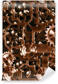 Fototapet av Vinyl Steampunk kuggar och kugghjul