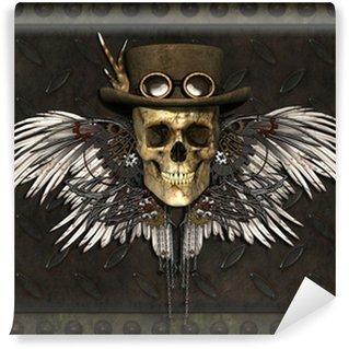 Fototapet av Vinyl Steampunk Skull
