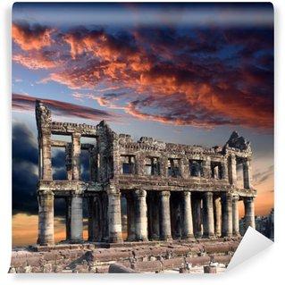 Fototapet av Vinyl Sten fördärvar tempel i Angkor Wat templet komplex, Siem Reap, Kambodja