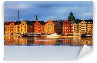 Fototapet av Vinyl Stockholm with Kungsholmen and Riddarfjarden in winter.
