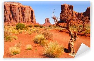 Fototapet av Vinyl Stora klippformationer i Navajo Park Monument Valley