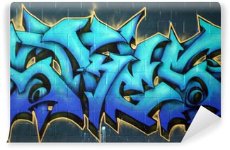 Fototapet av Vinyl Street Graffiti Spraypaint