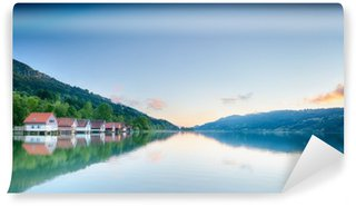 Fototapet av Vinyl Summer Lake Reflektioner - Alpsee, Tyskland