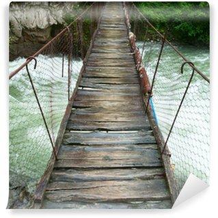 Fototapet av Vinyl Suspension gångbro