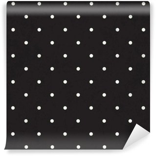 Fototapet av Vinyl Svart polka dot bakgrund