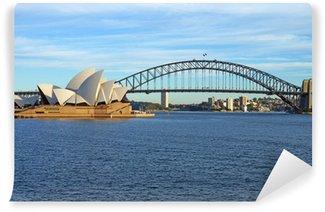 Sydney Harbour Bridge og operahus Vinyl Fototapet