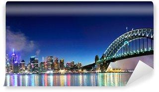 Sydney Harbour NYE Fyrværkeri Panorama Vinyl Fototapet