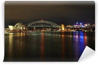 Sydney Harbour om natten Vinyl Fototapet