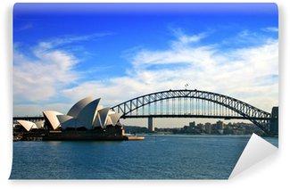 Fototapet av Vinyl Sydney Opera House och Harbour Bridge ..