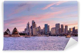 Sydney, Pink Sunset 1 Vinyl Fototapet
