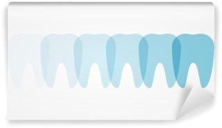 Fototapet av Vinyl Tänder - Illustration
