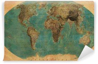 Fototapet av Vinyl Tappning karta