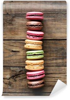Fototapet av Vinyl Traditionella franska färgrik macarons