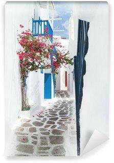 Fototapet av Vinyl Traditionella grekiska hus på ön Mykonos, Grekland