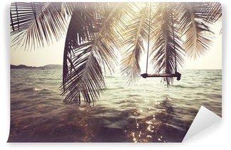 Tropisk strand Vinyl Fototapet