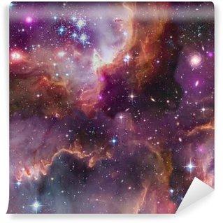 Fototapet av Vinyl Universe background.Seamless.Elements bilden tillhandahålls av NASA