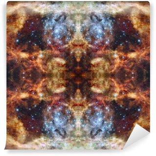 Fototapet av Vinyl Universum simmetric bakgrund. Delar av denna bild Möblerat