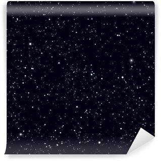 Fototapet av Vinyl Utrymme med stjärnor vektorbakgrund. Galaxy och planeter i kosmos mönster