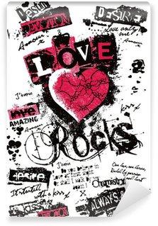 Fototapet av Vinyl Utsmyckad hjärta i graffiti stil
