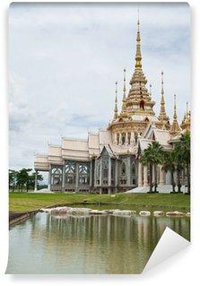 Fototapet av Vinyl Vacker byggnad med religion, Wat luang Phor tå, Nakhonratcha