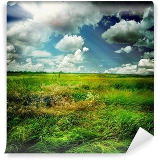 Fototapet av Vinyl Vacker natur Lantlig liggande