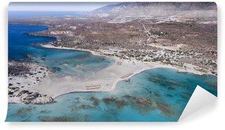 Fototapet av Vinyl Vacker utsikt över djupblå strand