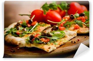 Fototapet av Vinyl Vegetarisk Pizza