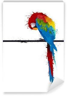 Fototapet av Vinyl Vektor papegoja parakiter, graffiti