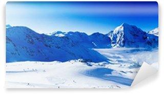Fototapet av Vinyl Vinter berg, panorama över de italienska alperna