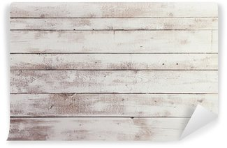 Fototapet av Vinyl Vita träskivor med textur som bakgrund