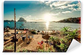 Fototapet av Vinyl Vy över Cala d'Hort Beach, Ibiza