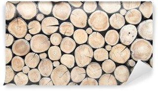 Fototapet av Vinyl wallpaper wood log