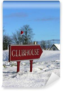Fototapet av Vinyl Winter Golf - Klubbhus