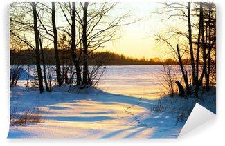 Fototapet av Vinyl Winter Sunset I