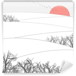Fototapet av Vinyl Winter Sunset