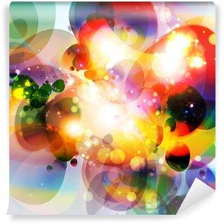 Fototapeta Winylowa 3d abstrakcyjna linie technologiczne z jasnym tle wektora