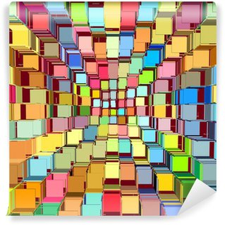 Vinylová Fototapeta 3d abstraktní roztříštěné jasný barevný vzor