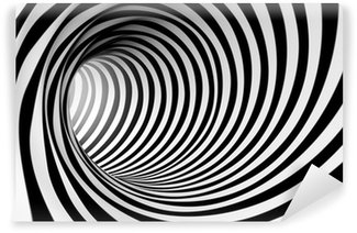Vinylová Fototapeta 3d abstraktní spirála pozadí v černé a bílé