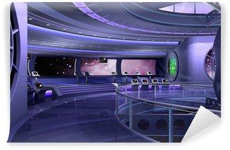 Vinylová Fototapeta 3D kosmická loď