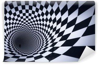 Vinylová Fototapeta 3d kostka kostkovaný tunel