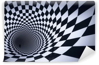 Fototapeta Winylowa 3d kostka kratkę tunelu