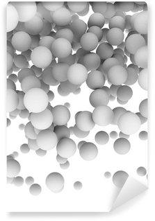 Fototapeta Winylowa 3d kulki na białym tle