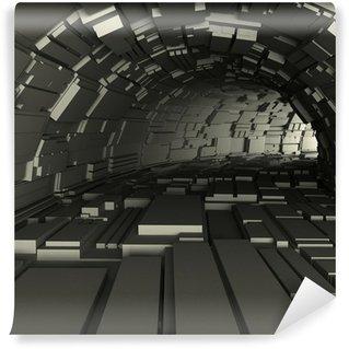 Vinylová Fototapeta 3d render z tunelu