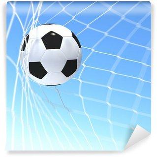 Vinylová Fototapeta 3d rendering fotbalový míč v čisté