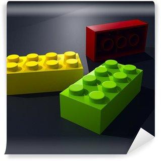 Vinylová Fototapeta 3D tři lego bloky