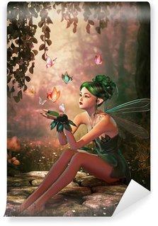 Vinylová Fototapeta A Umístěte motýlů, 3d CG
