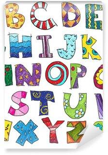 Vinylová Fototapeta ABC. Děti legrační abeceda, vektor