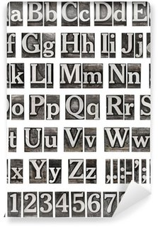 Vinylová Fototapeta Abeceda ze starých kovových písmen